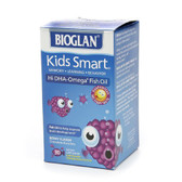 Buy Kids Smart Hi DHA-Omega 3 Fish Oil Berry Flavor 30 Chewable Burstlets Bioglan Online, UK Delivery, EFA Omega EPA DHA