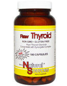 Raw Thyroid Glandular Concentrate 180 Caps Natural Sources
