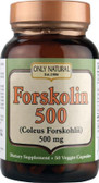 Buy Forskolin 500 mg (Coleus Forskohlii Extract) 50 Caps, Only Natural ,Natural Remedy, UK
