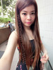 #7623 (LIGHT BROWN)  VERY BEAUTIFUL LONG STRAIGHT WIG NON SHINY
