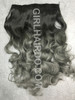 black ombre silver hair extensions