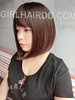 #8827 premium bob wig chocolate colour