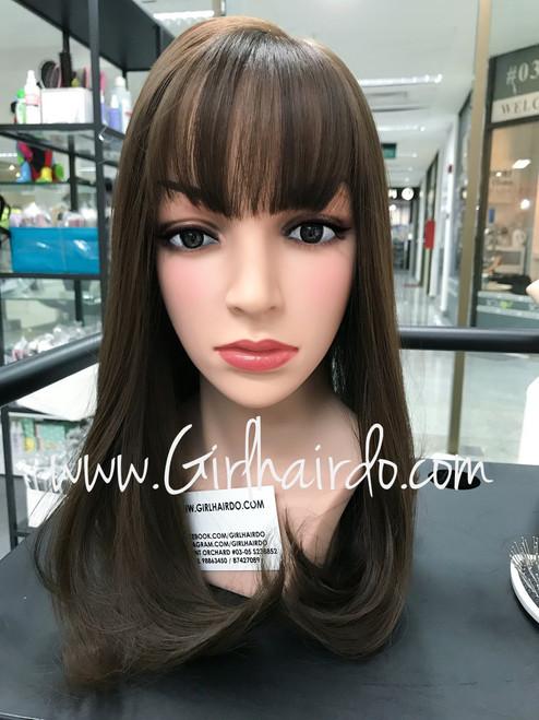 natural below shoulder length skin wig *popular*