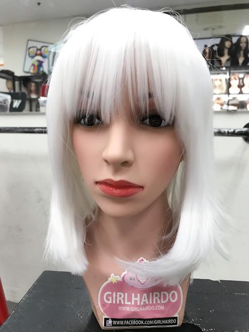Neon White bob wig good quality (heat friendly)