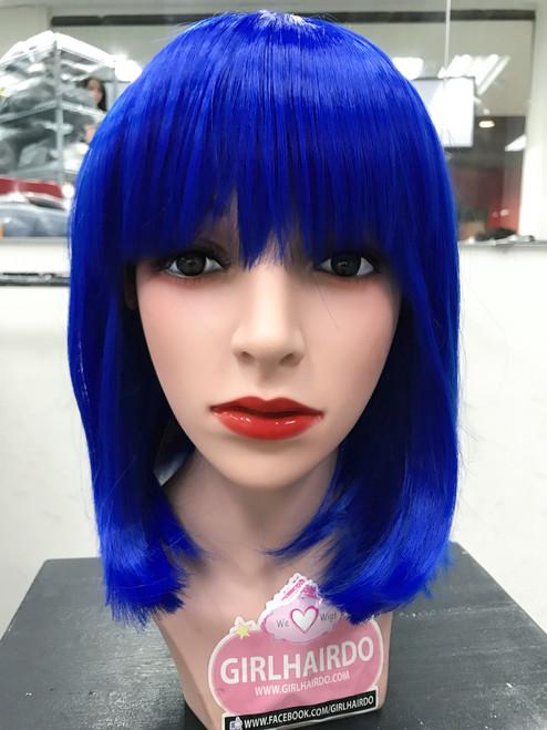 neonbright electric blue bob wig