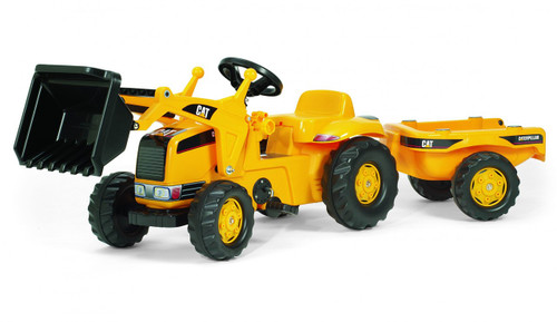 Kettler -- CAT Kid Tractor with Trailer