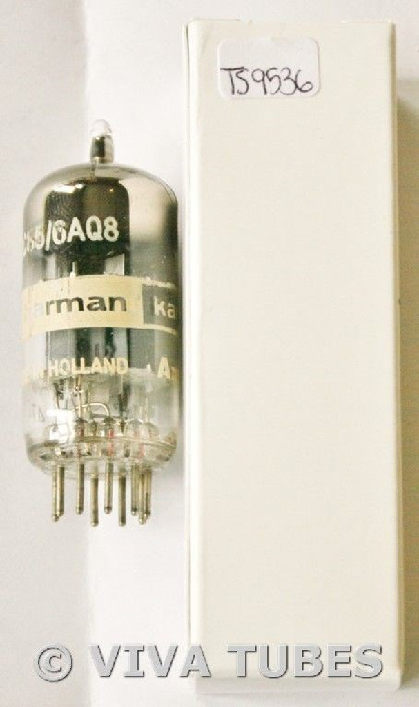 1957 Amperex Holland 6AQ8/ECC85 D FOIL STRIP Get Vacuum Tube 93/110%
