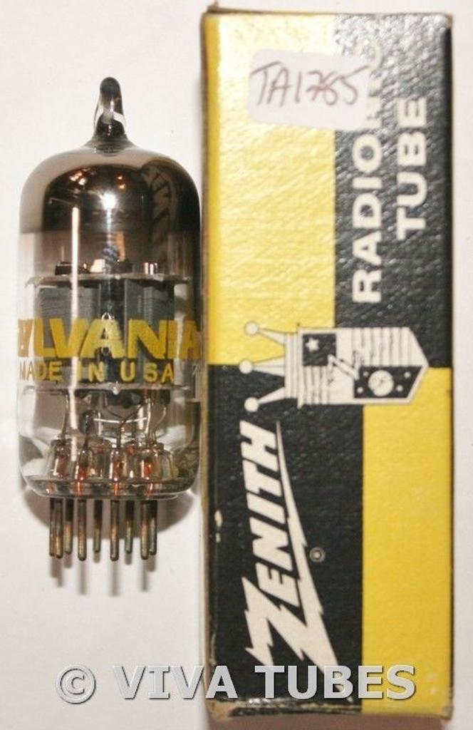 In Box Sylvania USA 6GH8 Gray Plate Top O Get Vacuum Tube 88/78%