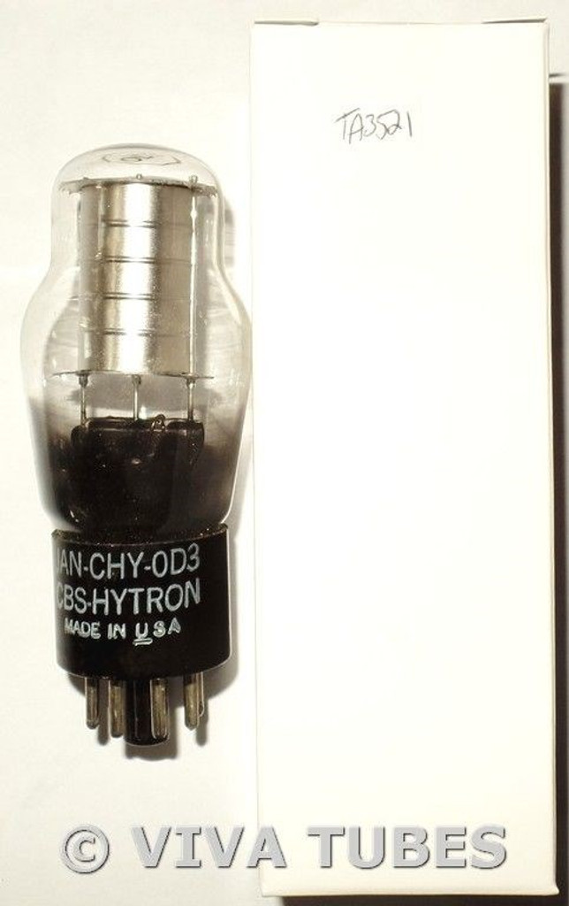 NOS CBS-Hytron USA JAN-CHY-0D3 [OD3] Silver Plate BTM [] Get Vacuum Tube 100+%