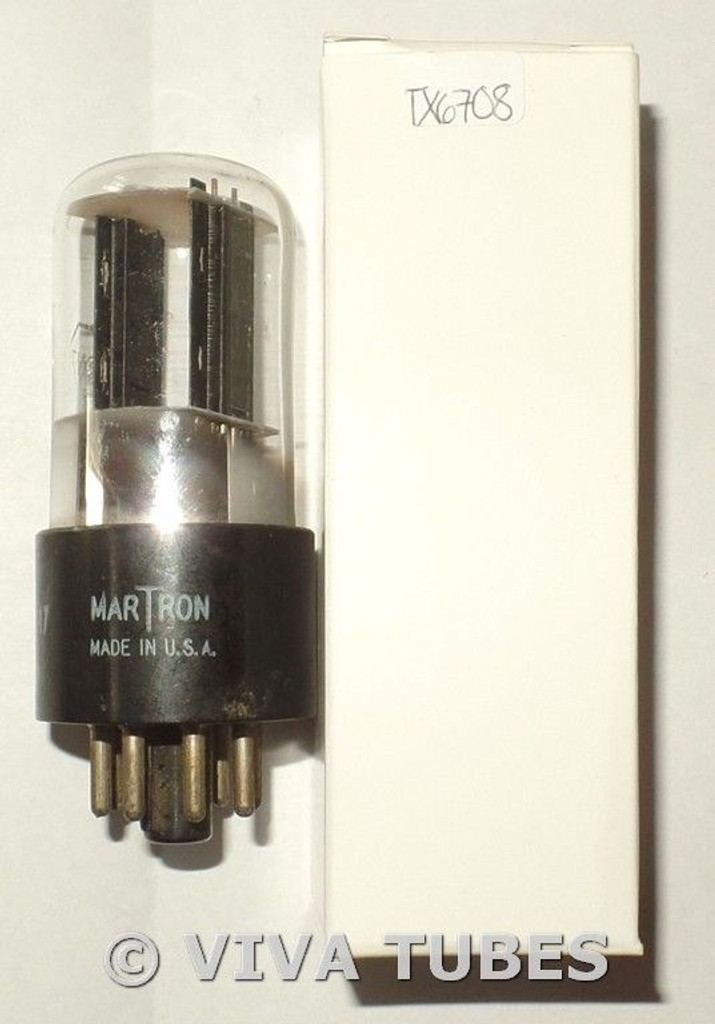 Martron USA 12SN7GT Flat Black Plate BTM D Foil Get TALL Vacuum Tube 73/67%