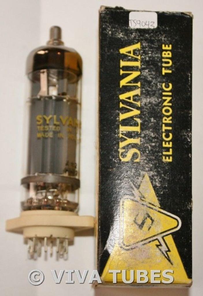 NOS NIB 1968 Amperex Holland 6GB5 / EL500 Gray P O Get 3 Mica Vacuum Tube