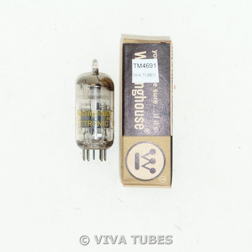 Amperex Holland 6ES8/ECC189 Gray Plate Top True D Get Vacuum Tube 81/81%