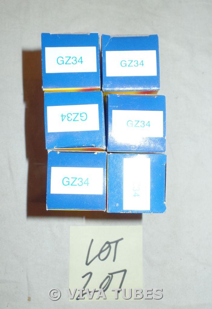 Lot of 9 DEFECTIVE JJ 5AR4/GZ34 Boxed Vacuum Tubes