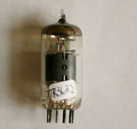 COOL  Japan 6BL8 [ECF80] Gray Plate Top O Getter Vacuum Tube 92%