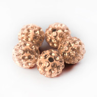 10mm Shamballa Beads - Champagne