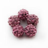 10mm Shamballa Beads - Dark Pink