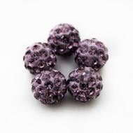 10mm Shamballa Beads - Light Amethyst