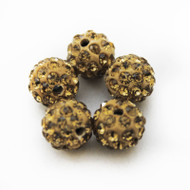 10mm Shamballa Beads - Light Colorado Brown