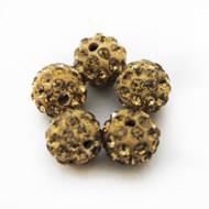10mm Shamballa Beads - Light Colorado Brown