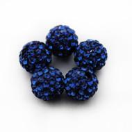 10mm Shamballa Beads - Montana Blue