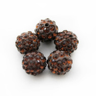 10mm Shamballa Beads - Smoke Topaz