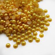 Flat back Pearls - Gold