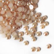 Flat back Pearls - Champagne
