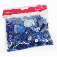 Papermania Blue Mixed Buttons 250g