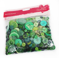 Papermania Green Mixed Buttons 250g