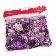 Papermania Purple Mixed Buttons 250g