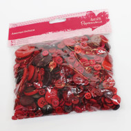 Papermania Red Mixed Buttons 250g
