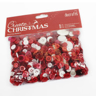 Papermania Nordic Christmas Mixed Buttons 250g