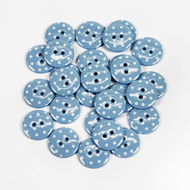 Polka Dot Buttons - Pale Blue