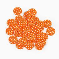 Polka Dot Buttons - Orange