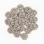 Polka Dot Buttons - Pebble
