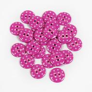Polka Dot Buttons - Pink