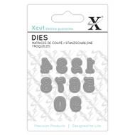 X-Cut Mini Serif Numbers 0-9 Die