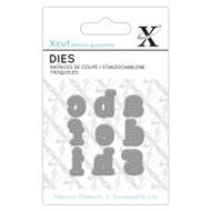 X-Cut Mini Serif Lowercase Letters a-i Die