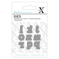 X-Cut Mini Serif Lowercase Letters j-r Die