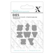 X-Cut Mini Serif Lowercase Letters s-z Die