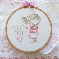 DMC Embroidery Kit - Follow Your Heart