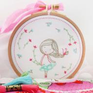 DMC Embroidery Kit - Spring Girl