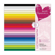 Docrafts Papermania Coloured Paper Pack 6x6 - 48 Sheets