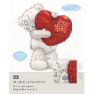 DMC Printed Cross Stitch Kit Tatty Teddy - Heart