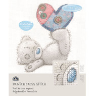 DMC Printed Cross Stitch Kit Tatty Teddy - Patchwork Heart