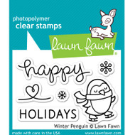 Lawn Fawn Winter Penguin Stamps