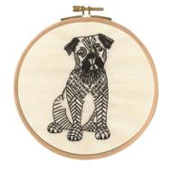 DMC Embroidery Kit - Doug the Pug