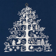 DMC Cross Stitch Kit - Christmas Tree Blue