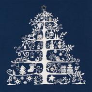 DMC Cross Stitch Kit - Christmas Tree Blue