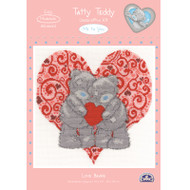 DMC Me to You Tatty Teddy Counted Cross Stitch Kit - Love Bears